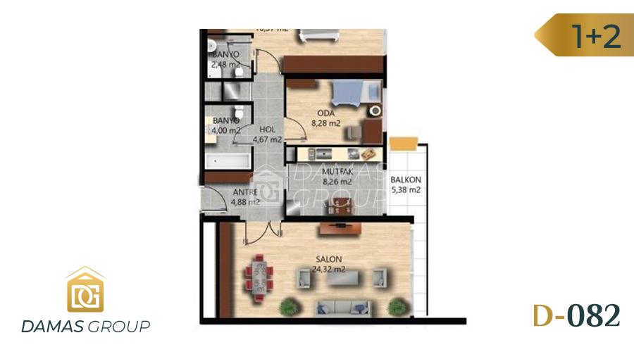 Damas Project D-082 in Istanbul - Floor Plan 01