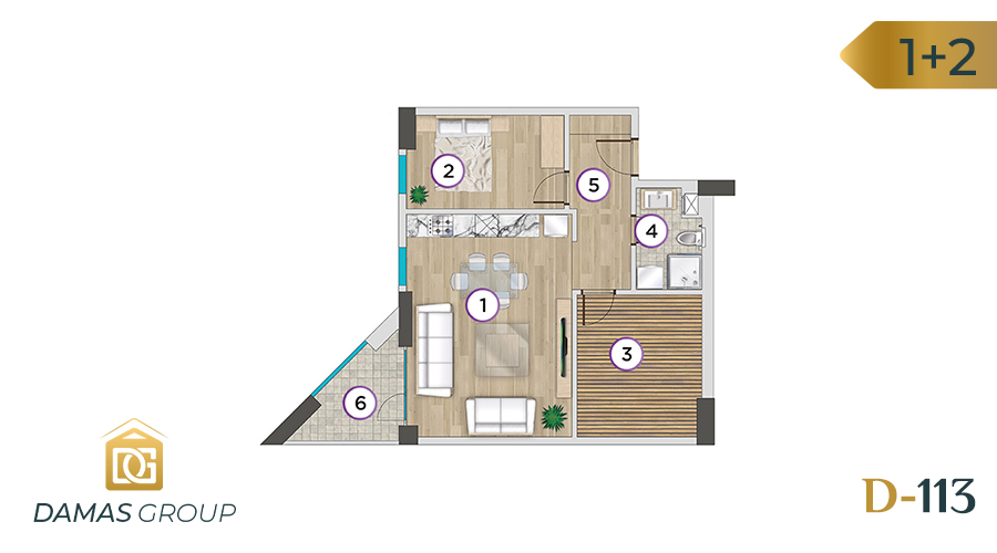 Damas Project D-113 in Istanbul - Floor Plan 03