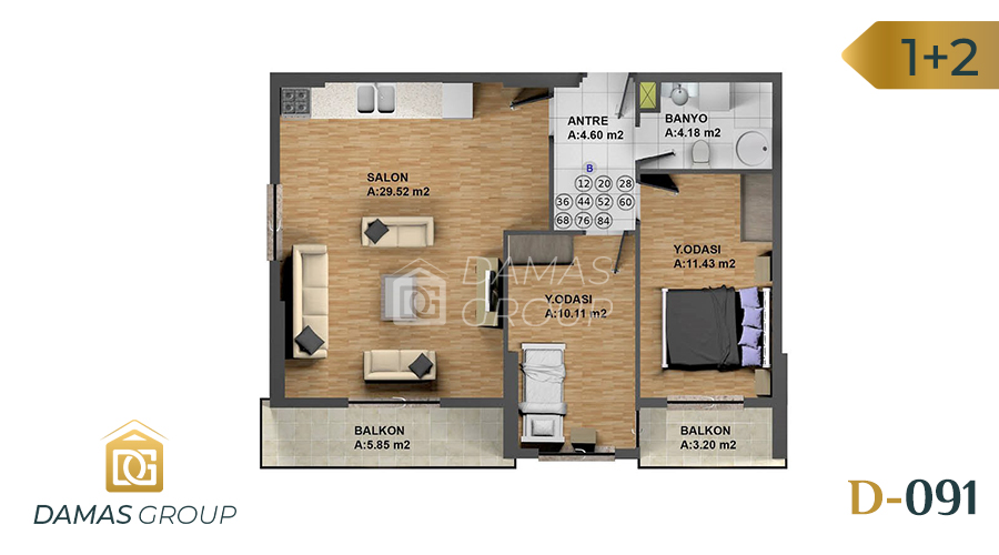 Damas Project D-091 in Istanbul - Floor Plan 02