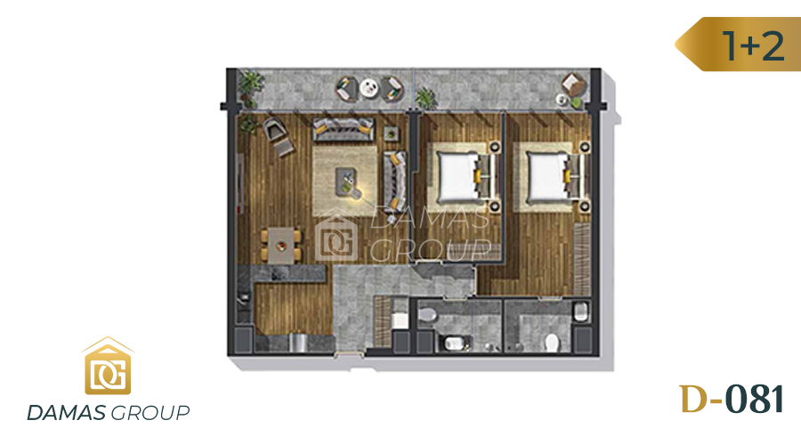 Damas Project D-081 in Istanbul - Floor Plan 02
