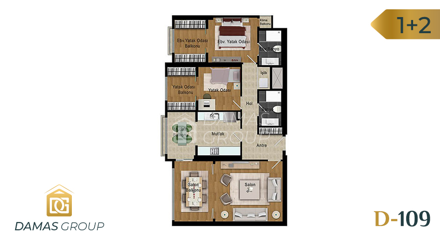 Damas Project D-109 in Istanbul - Floor Plan 02
