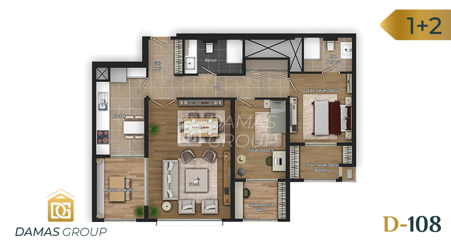 Damas Project D-108 in Istanbul - Floor Plan 04