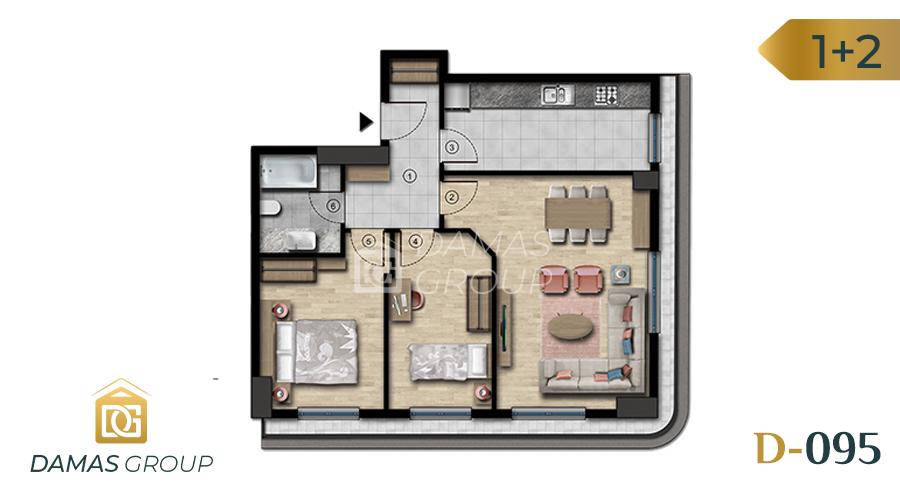 مجمع داماس 095 في اسطنبول  - صورة مخطط 01