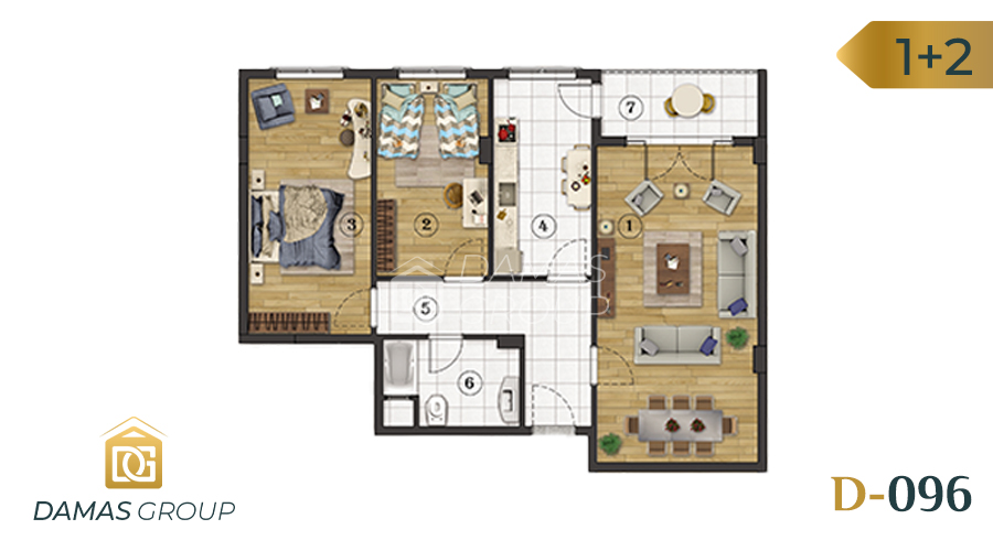 Damas Project D-096 in Istanbul - floor plan  04