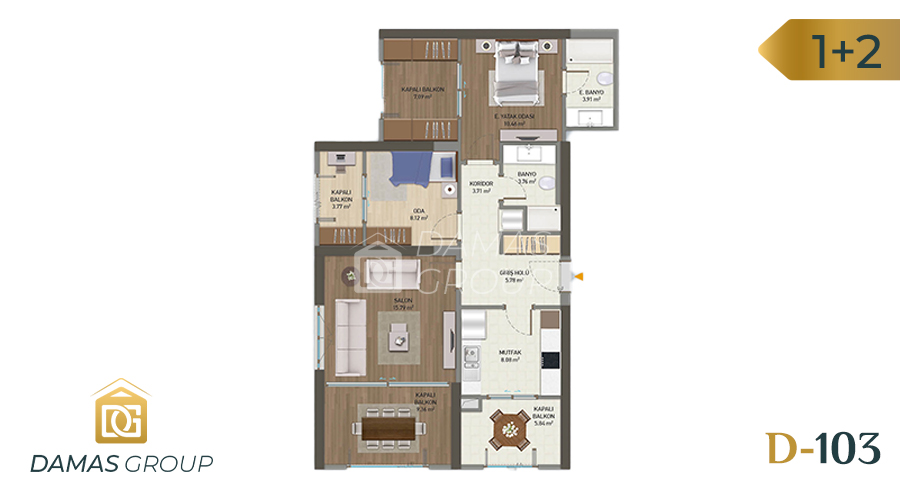 Damas Project D-103 in Istanbul - Floor plan picture 04
