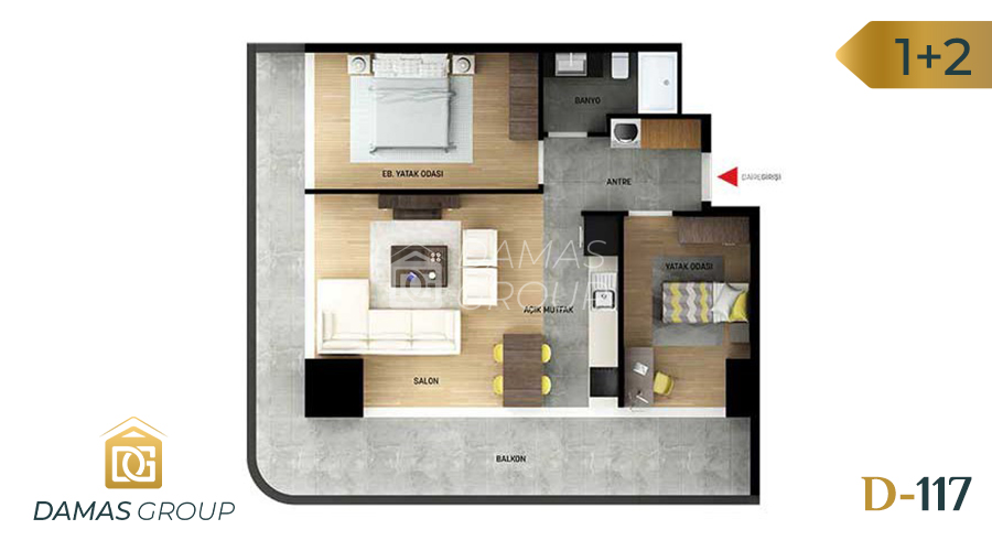 Damas Project D-117 in Istanbul - Floor Plan 03