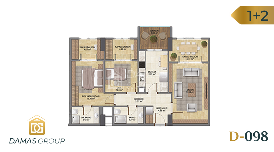 Damas Project D-098 in Istanbul - Floor Plan 02