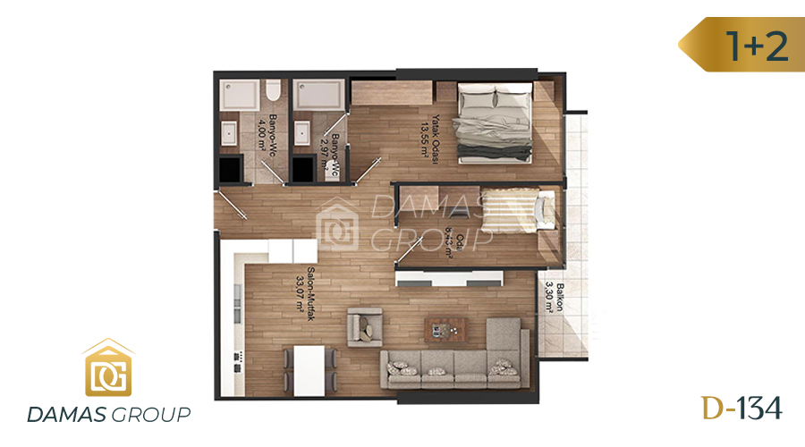 Damas Project D-134 in Istanbul - Floor Plan 03