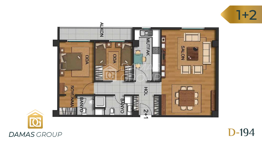 Damas Project D-194 in Istanbul - Floor Plan 02
