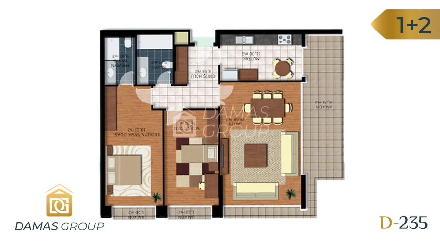 Damas Project D-235 in Istanbul - Floor Plan 01