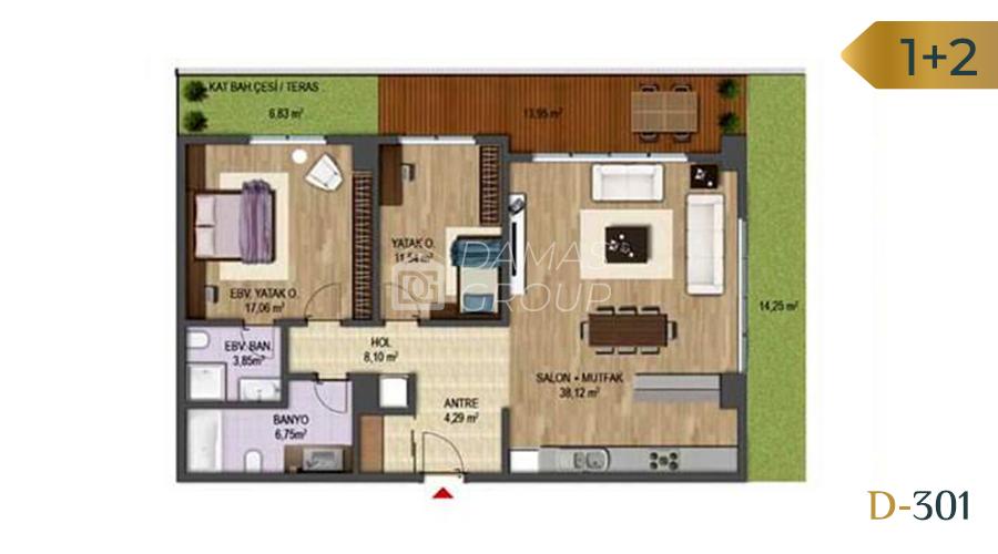 Damas Project D-301 in Bursa - Floor Plan 02