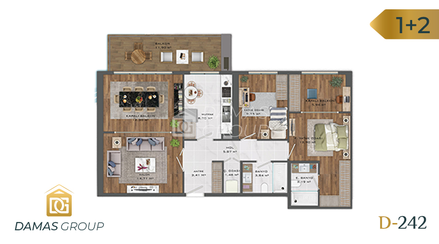 Damas Project D-242 in Istanbul - Floor Plan 01