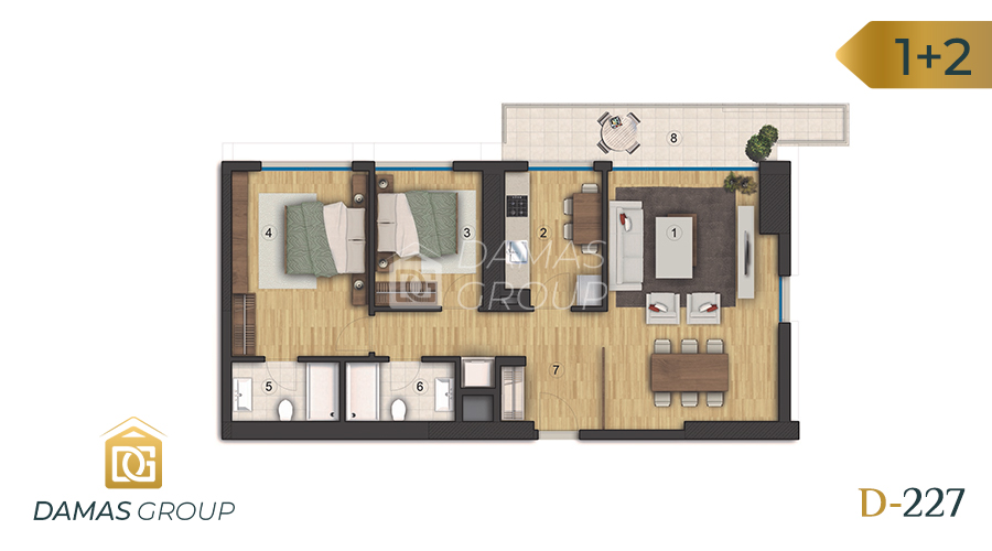 Damas Project D-227 in Istanbul - Floor Plan 03