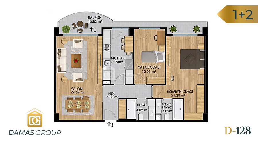 Damas Project D-128 in Istanbul - Floor Plan 02