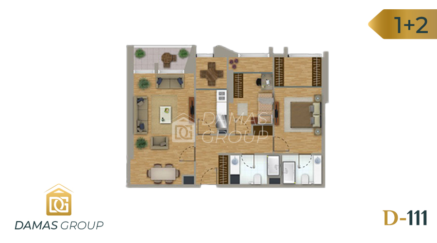 Damas Project D-111 in Istanbul - Floor Plan 03