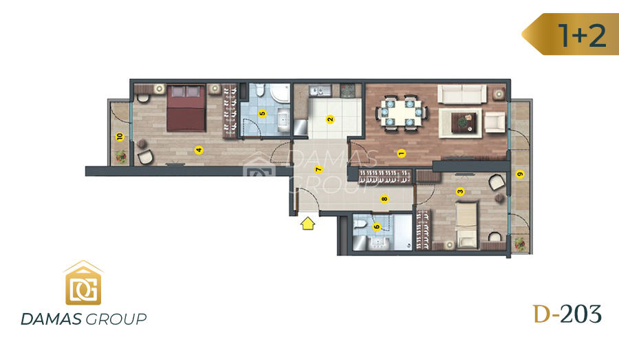 Damas Project D-203 in Istanbul - Floor Plan 02
