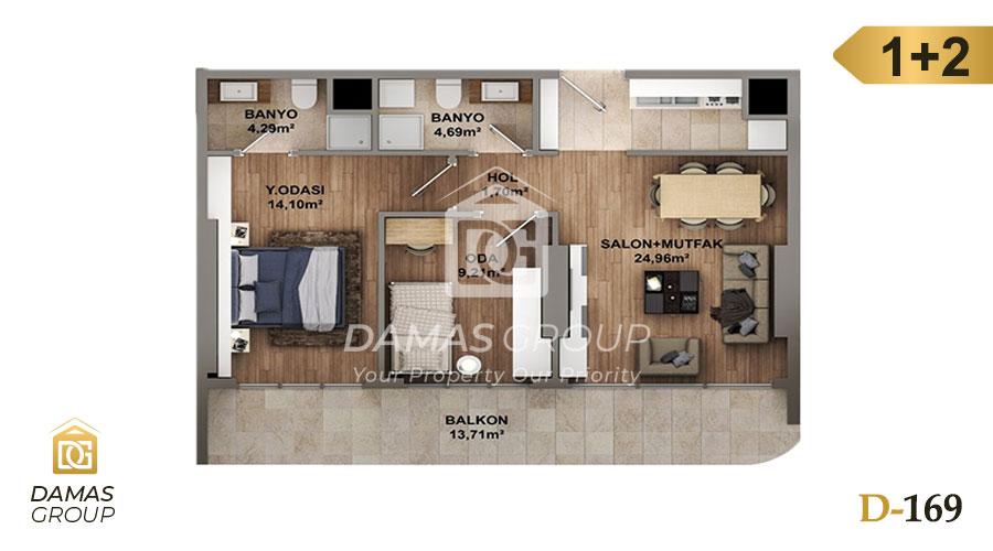 مجمع داماس 169 في اسطنبول  - صورة مخطط 02