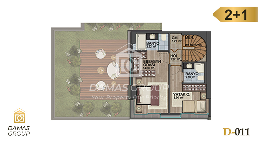 Damas Project D-011 in Istanbul - Floor Plan 02