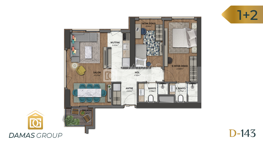 Damas Project D-143 in Istanbul - Floor Plan 02