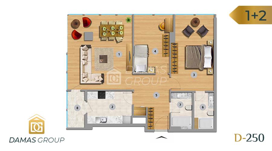 Damas Project D-250 in Istanbul - Floor Plan 04