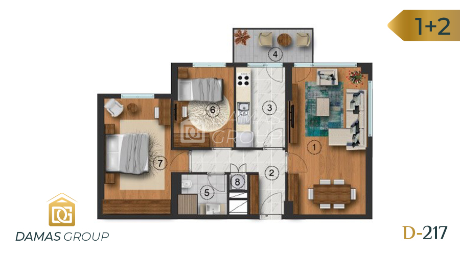 Damas Project D-217 in Istanbul - Floor Plan 01