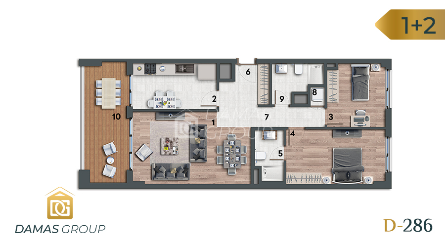 Damas Project D-286 in Istanbul - Floor Plan 02