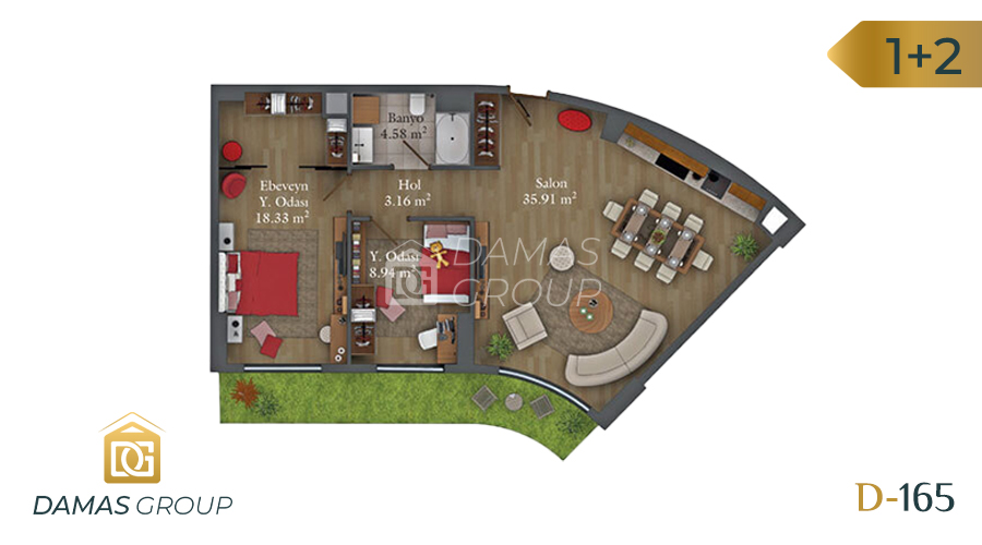 Damas Project D-165 in Istanbul - Floor Plan 02