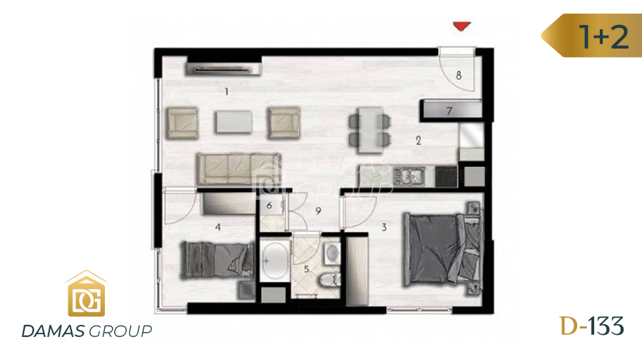 Damas Project D-133 in Istanbul - Floor Plan 03