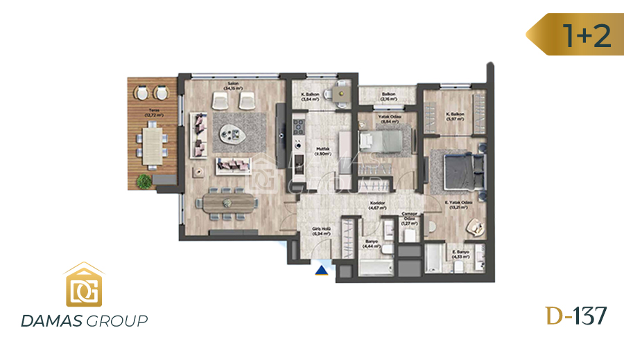 Damas Project D-137 in Istanbul - Floor Plan 01