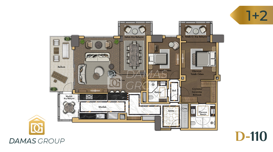Damas Project D-110 in Istanbul - Floor Plan 01