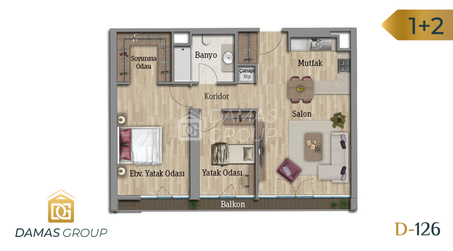 Damas Project D-126 in Istanbul - Floor Plan 02