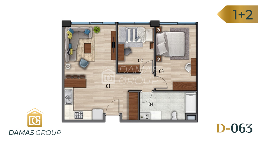 Damas Project D-063 in Istanbul - Floor Plan  03