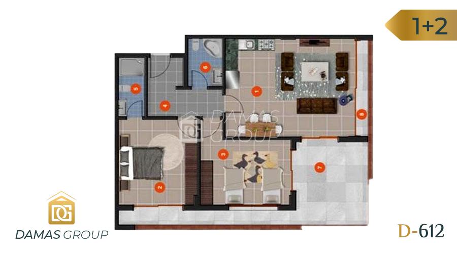 Damas Project D-612 in Antalya- Floor Plan 02