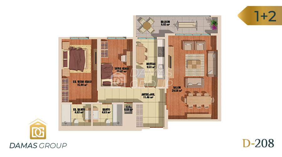 Damas Project D-208 in Istanbul - Floor Plan 01