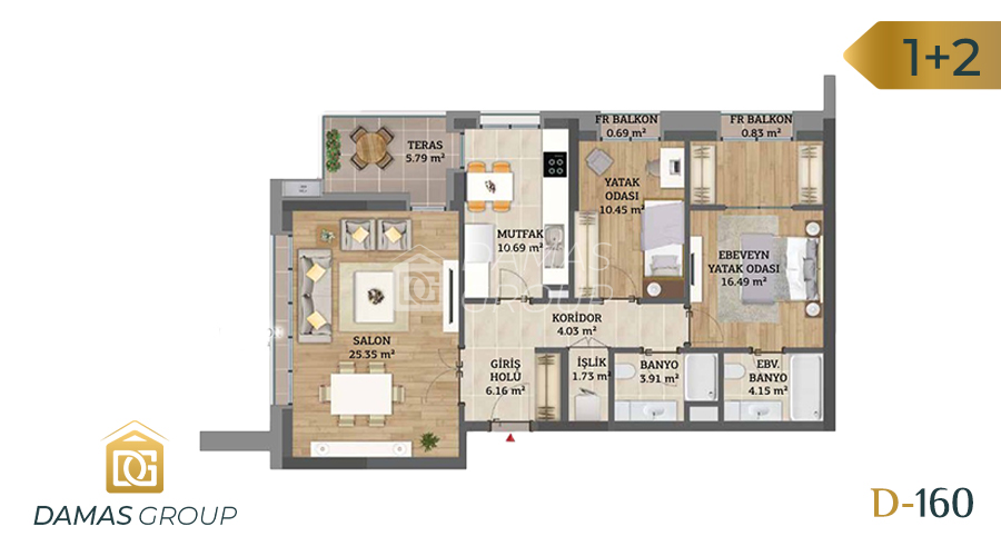 Damas Project D-160 in Istanbul - Floor Plan 03