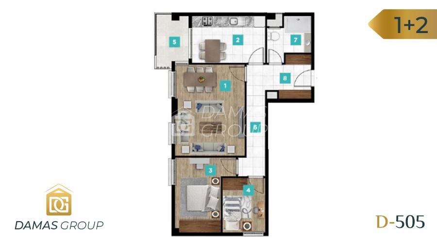 Damas Project D-061 in kocaIi - Floor Plan 02