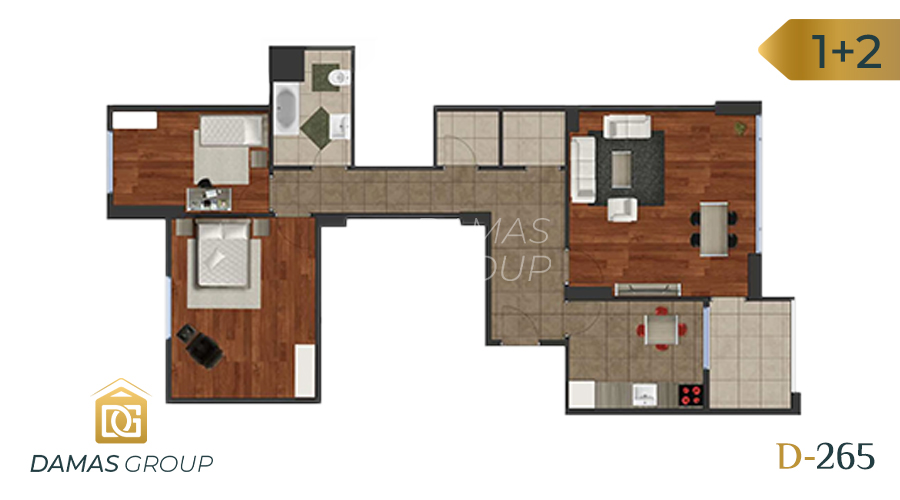 Damas Project D-265 in Istanbul - Floor Plan 01