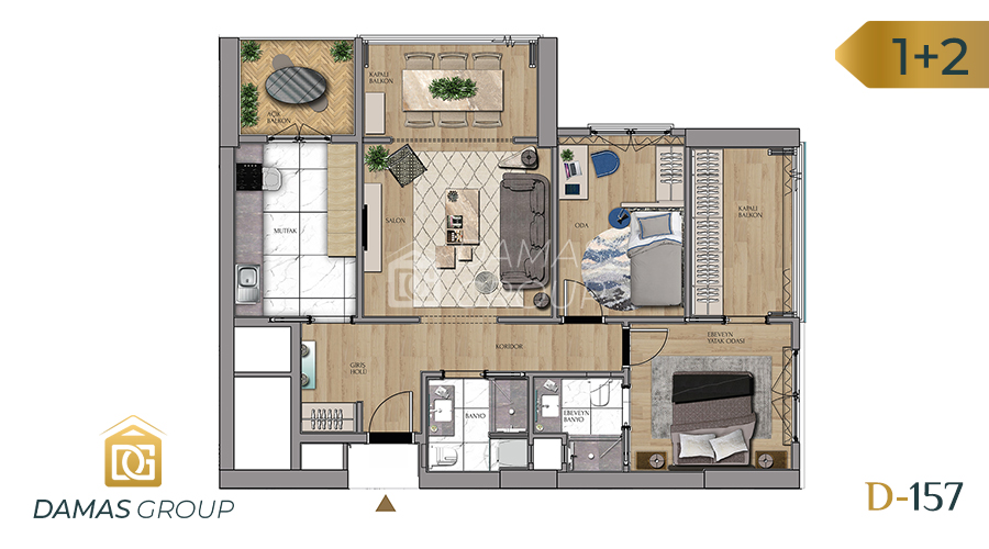 Damas Project D-157 in Istanbul - Floor Plan 03