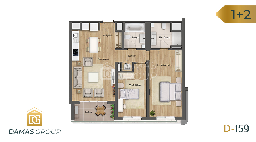 Damas Project D-159 in Istanbul - Floor Plan 02