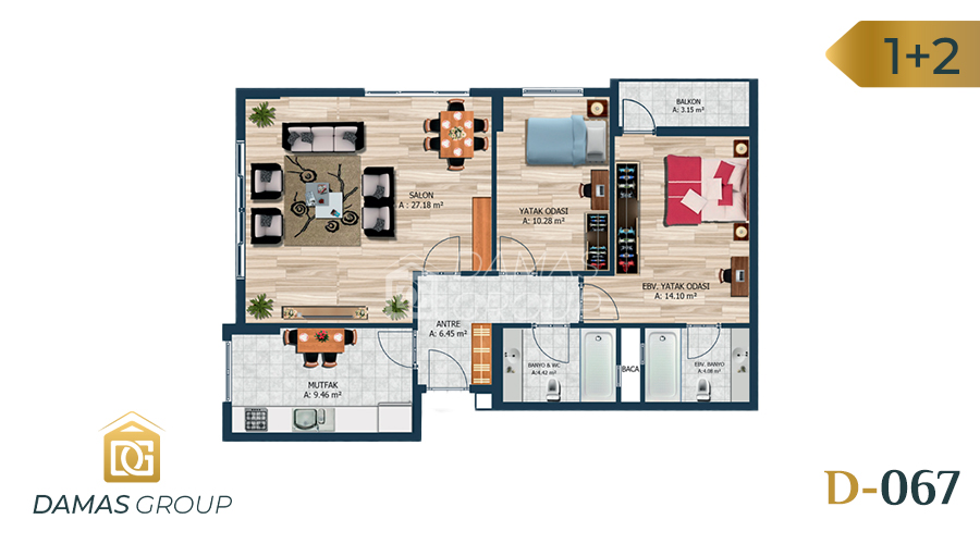 Damas Project D-067 in Istanbul - Floor Plan 01