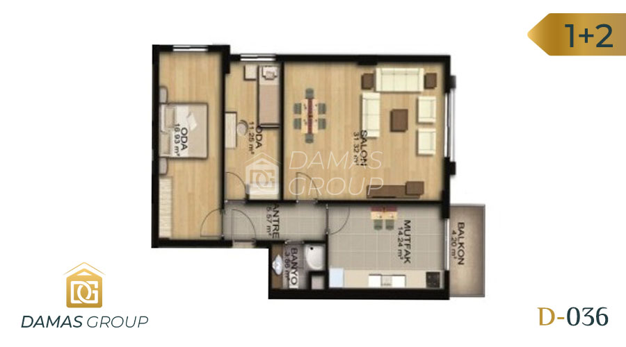 Damas Project D-036 in Istanbul - Floor Plan 03