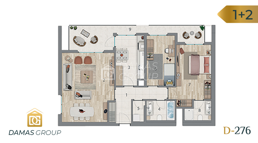 Damas Project D-276 in Istanbul - Floor Plan 02