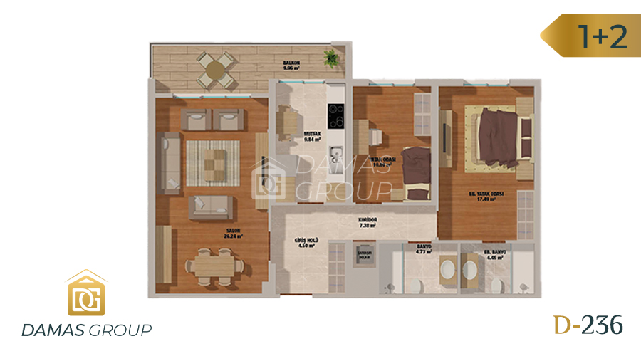 Damas Project D-236 in Istanbul - Floor Plan 01