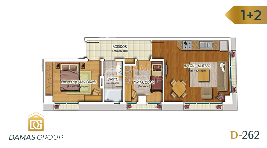 Damas Project D-262 in Istanbul - Floor Plan 03