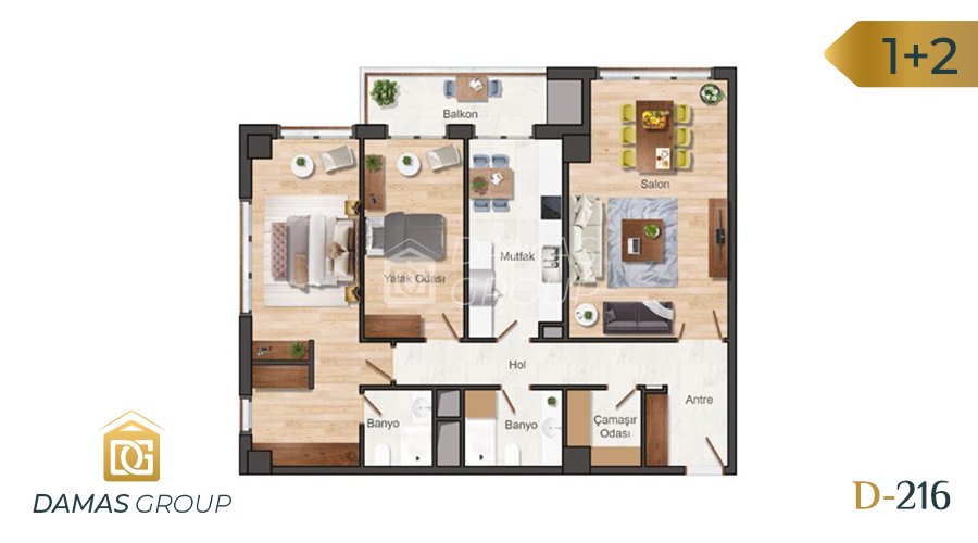 Damas Project D-216 in Istanbul - Floor Plan 02
