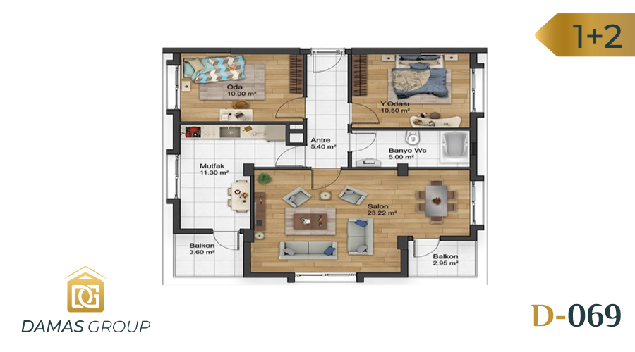 Damas Project D-069 in Istanbul - Floor Plan 01