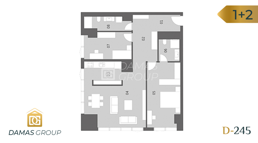 Damas Project D-245 in Istanbul - Floor Plan 02