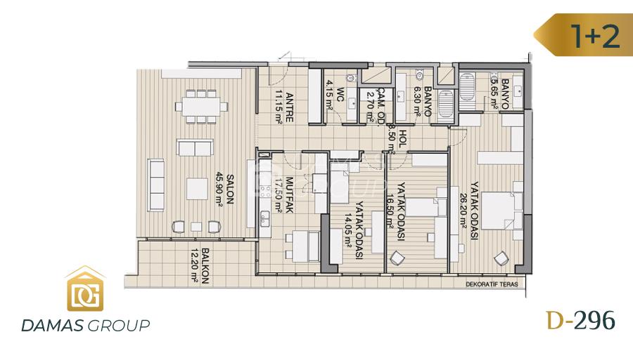Damas Project D-296 in Istanbul - Floor Plan 02