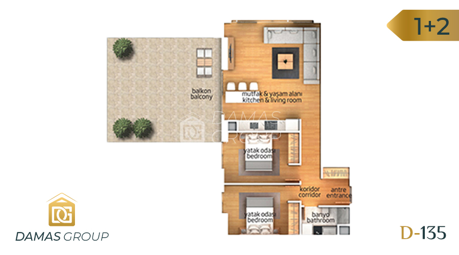 Damas Project D-135 in Istanbul - Floor Plan 02