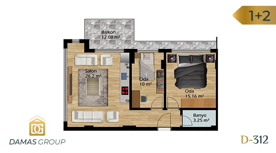 مجمع داماس 312 في بورصة  - صورة مخطط 03